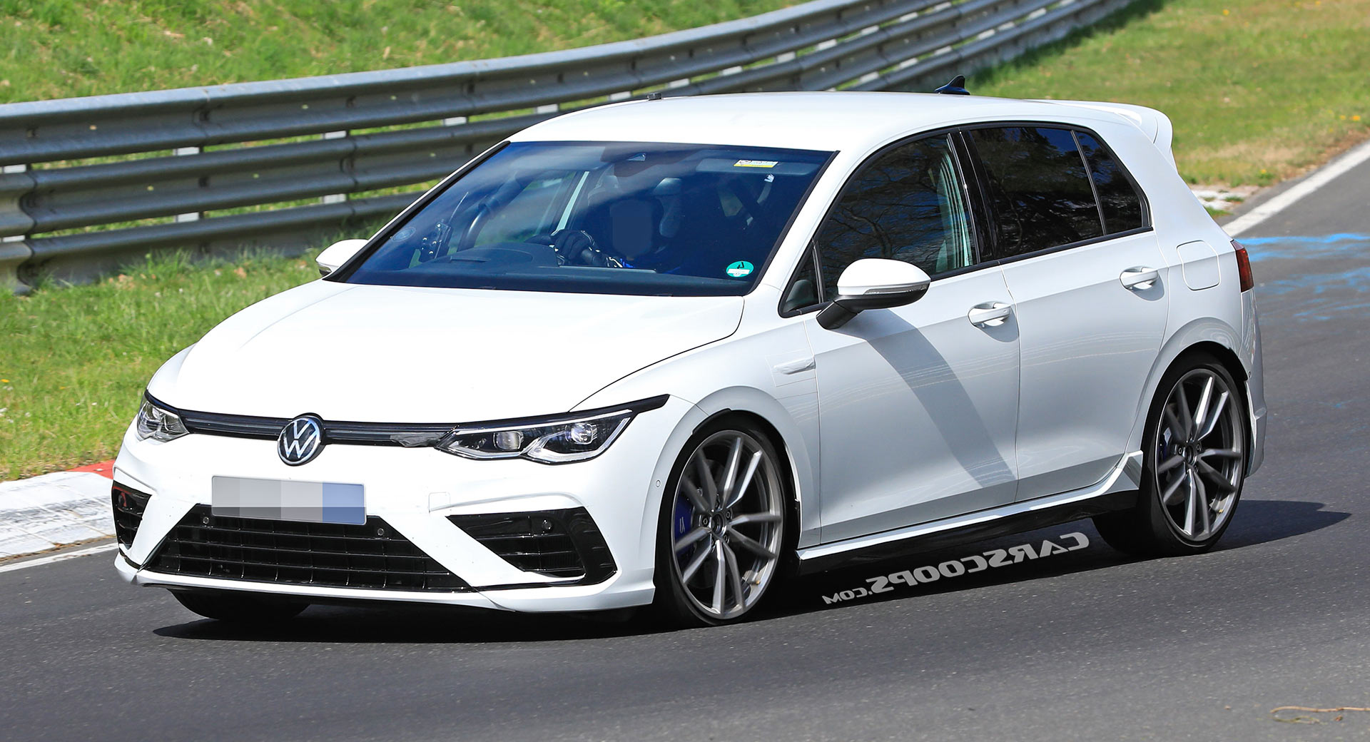 2021 Volkswagen Golf R Sounds Tamed But Looks Fast On Track