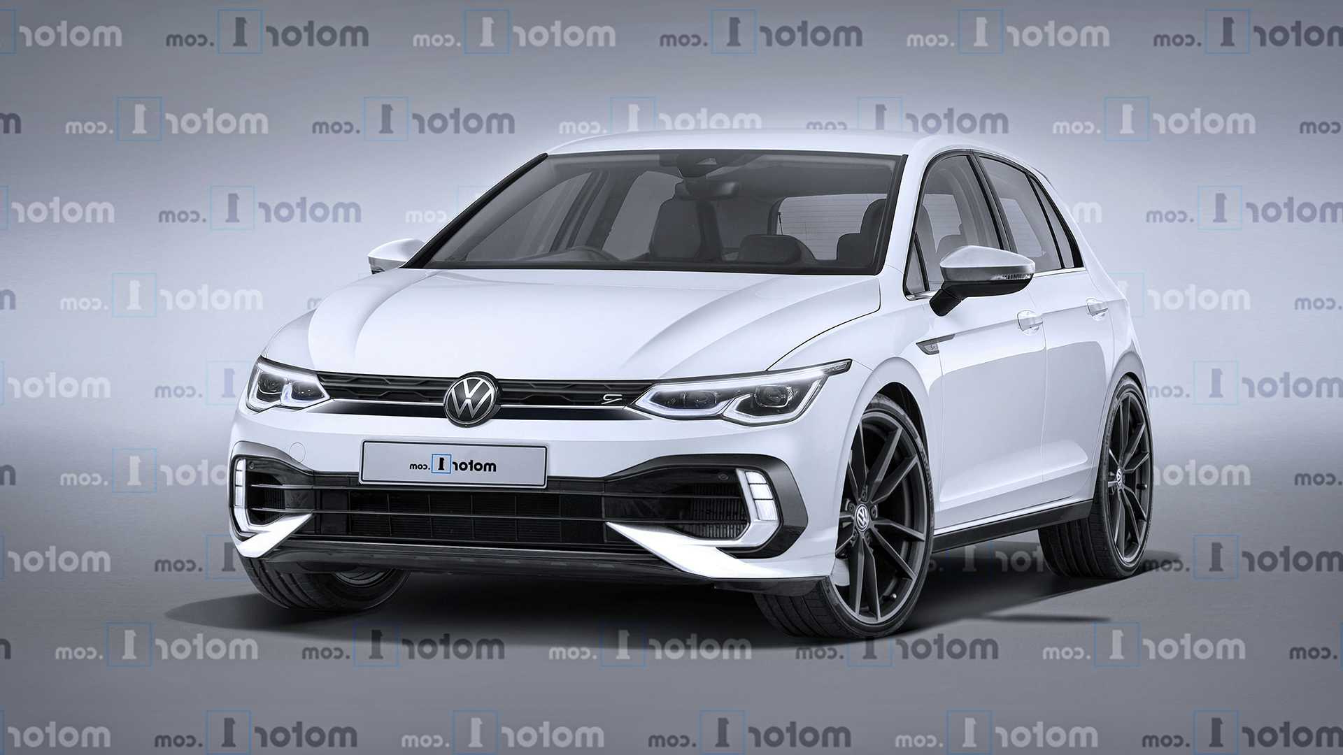 2021 Vw Golf R Exclusive Rendering Previews The Performance