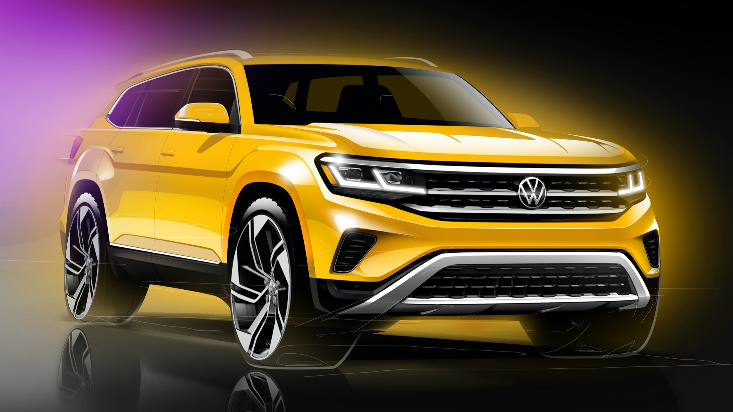 Vw Previews Facelifted Atlas That's Due For Next Year